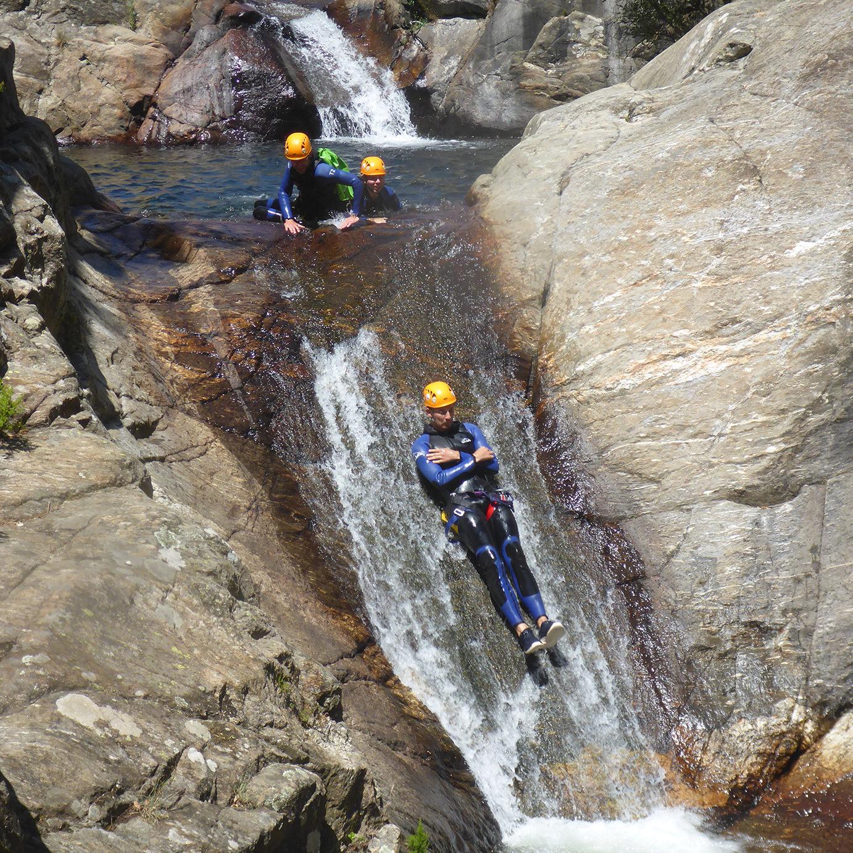 Canyoning toboggan naturel Hérault