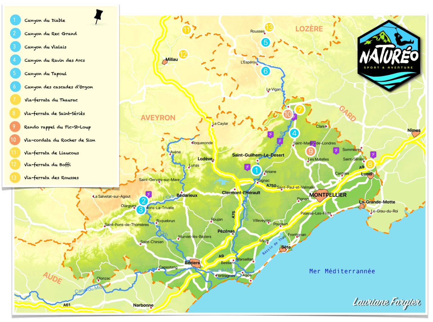 Carte des activités Naturéo