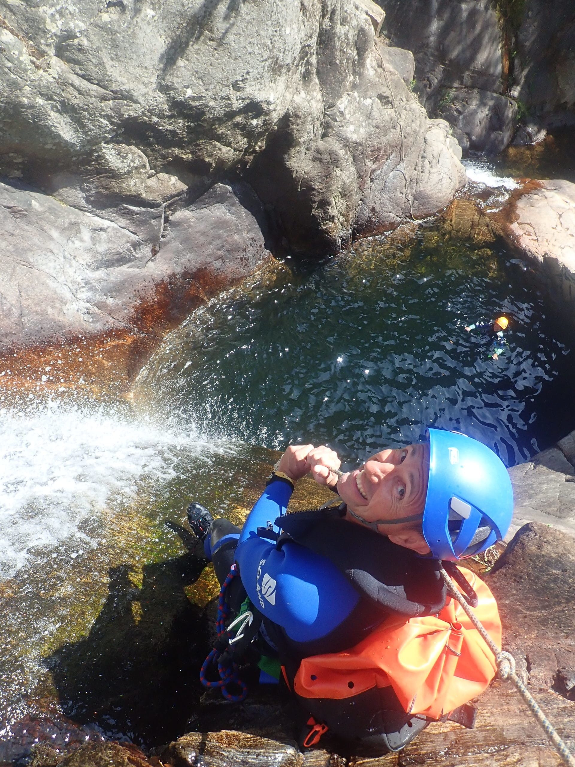 Canyoning dans le Caroux, les toboggans naturels !