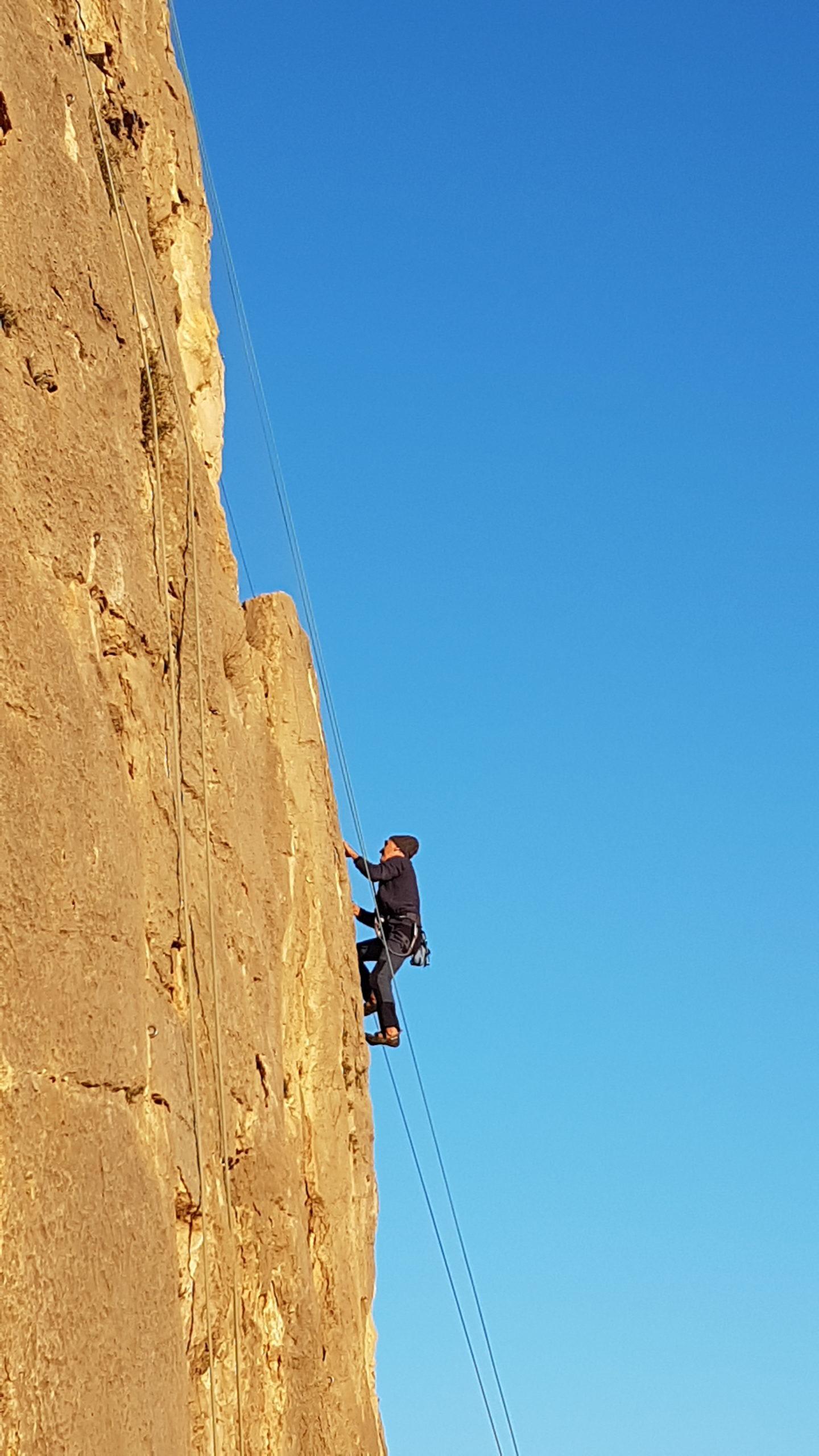 initiation escalade Hérault, falaise de St bauzille de Montmel