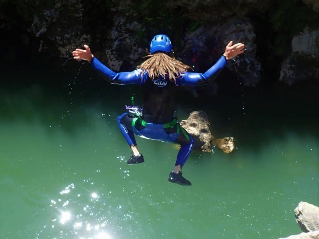 canyoning canyon du diable, sauts variés !