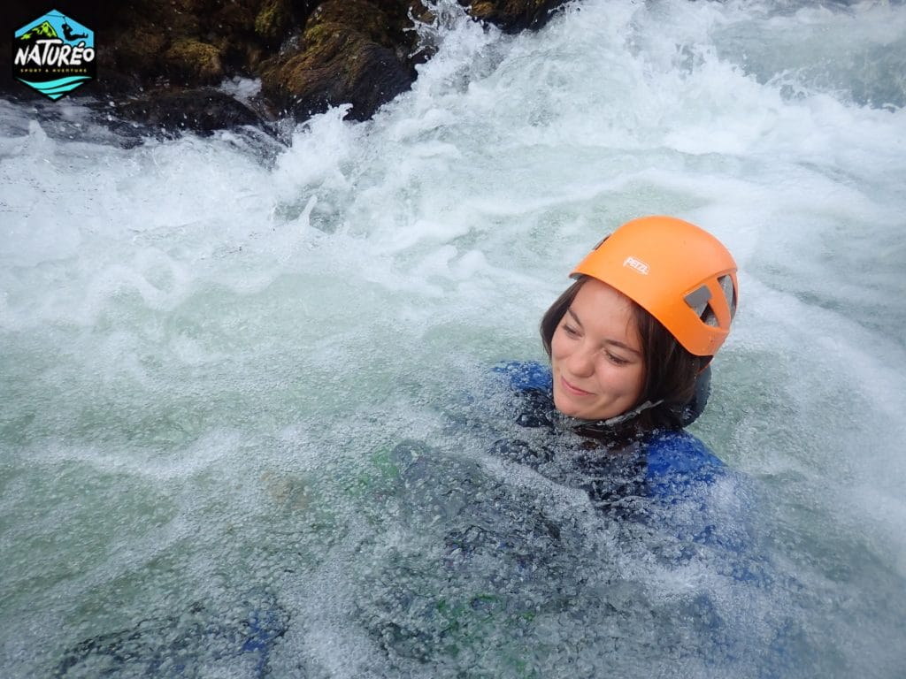 canyoning canyon du diable, nage en eaux vives !